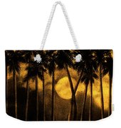 Moonlit Palm Trees In Yellow Weekender Tote Bag