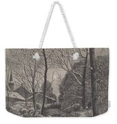 Moonlit Stroll In Winter Weekender Tote Bag