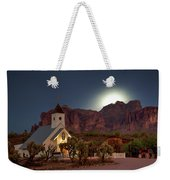 Moonrise At Superstition Mountain Weekender Tote Bag