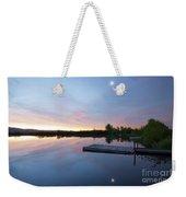Moonrise At The Fishing Pond Weekender Tote Bag