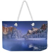 Moonrise Over Gates Of The Valley Yosemite National Park Weekender Tote Bag