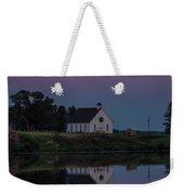 Moonrise Over Lake Badus Weekender Tote Bag