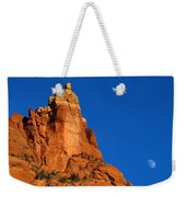 Moonrise Over Red Rock Weekender Tote Bag by Mike  Dawson