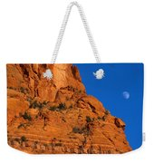 Moonrise Over Red Rock Weekender Tote Bag by Mike  Dawson