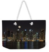 Moonrise Over San Diego Weekender Tote Bag