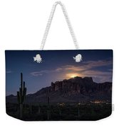 Moonrise Over The Superstitions Weekender Tote Bag
