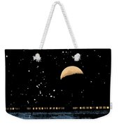 Moonset Over Depot Weekender Tote Bag