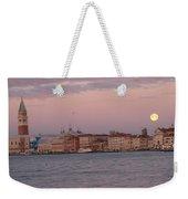 Moonset Over Venice Weekender Tote Bag