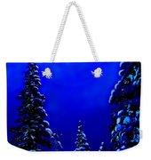 Moonshine On Snowy Pine Weekender Tote Bag