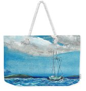 Moored In The Bay Weekender Tote Bag