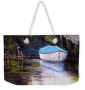 Moored Rowing Boat Weekender Tote Bag