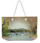 Moored Yachts In A Sheltered Bay Weekender Tote Bag
