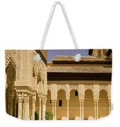 Moorish Architecture In The Nasrid Palaces At The Alhambra Granada Weekender Tote Bag