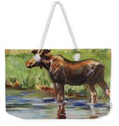 Moose At Henry's Fork Weekender Tote Bag