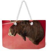 Moose Head Mounted On A Wall. Weekender Tote Bag