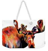 Moose In Orange Weekender Tote Bag