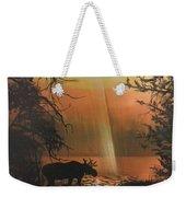 Moose In The Morning Weekender Tote Bag