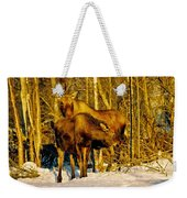 Moose In The Morning Weekender Tote Bag