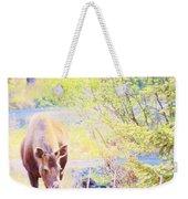 Moose In The Yard Weekender Tote Bag