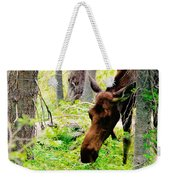Moose Munching Weekender Tote Bag