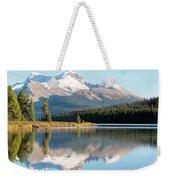 Moose On The Lake Weekender Tote Bag