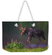 Moose On The Loose Weekender Tote Bag