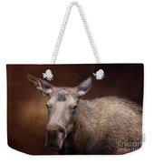 Moose Portrait Weekender Tote Bag