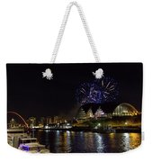 More Fireworks At Newcastle Quayside On New Year's Eve Weekender Tote Bag