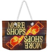 More Shops Weekender Tote Bag