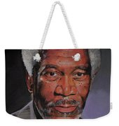 Morgan Freeman Portrait Weekender Tote Bag