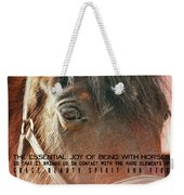 Morgan Horse Quote Weekender Tote Bag