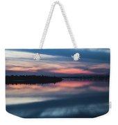 Morii Lake At Sunset Weekender Tote Bag