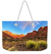 Morning Above Virgin Weekender Tote Bag by Chad Dutson