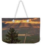 Morning Angel Lights Over The Valley Weekender Tote Bag