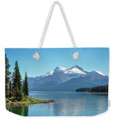Morning At Lake Maligne, Canada Weekender Tote Bag