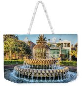 Morning At Pineapple Fountain Weekender Tote Bag