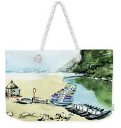 Morning At Porto Novo Beach Weekender Tote Bag