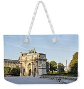 Morning At The Arc De Triomphe Du Carrousel  Weekender Tote Bag