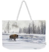 Morning Bison 4  7912-4 Weekender Tote Bag