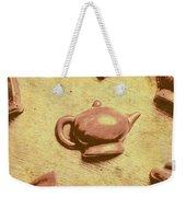 Morning Breakfast Chocolate Tea Set  Weekender Tote Bag