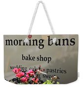 Morning Buns Bake Shop Weekender Tote Bag by Kim Bemis