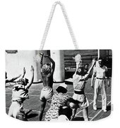 Morning Calisthenics On The Rms Queen Mary 1938 Weekender Tote Bag