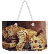 Morning Cat Weekender Tote Bag