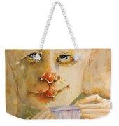 Morning Coffee Girl Weekender Tote Bag