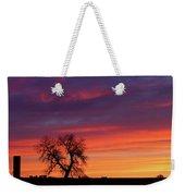 Morning Country Sky Weekender Tote Bag