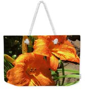 Morning Daylilies Weekender Tote Bag