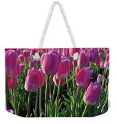 Morning Dew Tulips Weekender Tote Bag