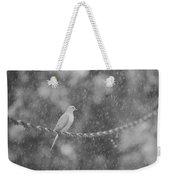 Morning Dove In The Rain Weekender Tote Bag