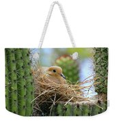 Mourning Dove Nest In A Cactus Weekender Tote Bag