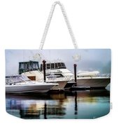 Morning Fog At Boothbay Weekender Tote Bag